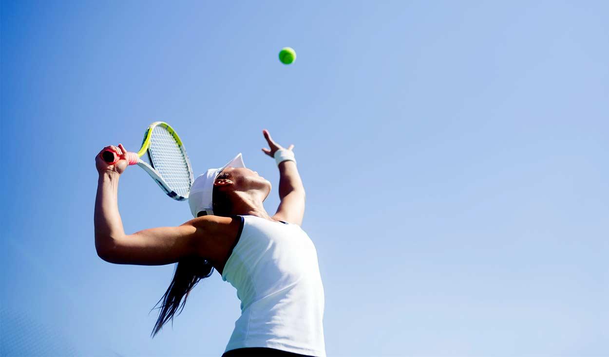 Tennis opslag